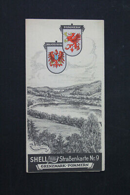 Old Map Shell Road Map Grenzmark Pomerania No. 9 Collector