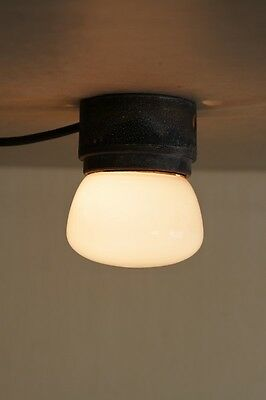 Little Old Outdoor, Hallway and Ceiling Lamp Bauhaus Art Deco Opal Glass