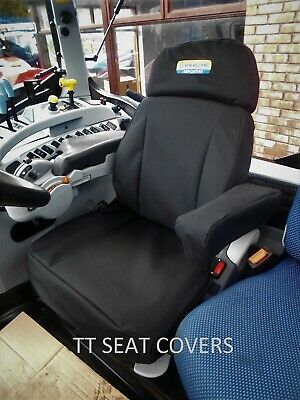 new holland /cnh/ t7 grammer dynamic plus seat cover with sliding headrest,black