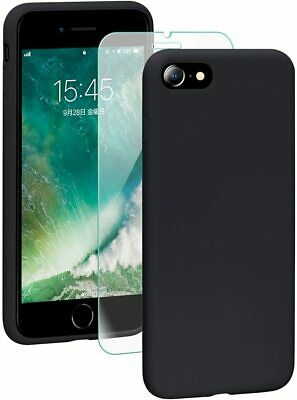 Cover Custodia + Pellicola Vetro Temperato Per Iphone 6/6S 7/8 X/Xs  Nero Opaco
