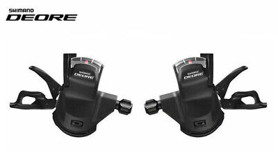 Shimano Deore M610 10 x 3 or 10 x 2 Speed Shifter Set - Including Gear Cables