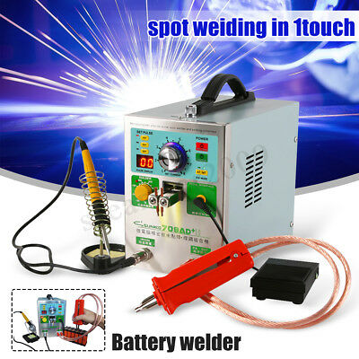 SUNKKO S709AD+ Automatic Spot Welder Machine Battery Charger w/ 70B Welding Pen
