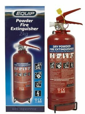 Equip Fire Extinguisher 2kg gauge ABC Powder Car Taxi Boat CE Kite Marked