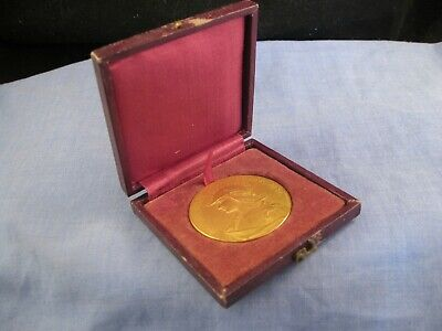 Bronze Gilt Ormolu Antique French Marianne Writing Medal Boxed Grandhomme