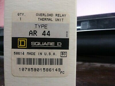Square D Ar 44 Ar44 Overload Relay Thermal Unit Set Of 3 New In Box