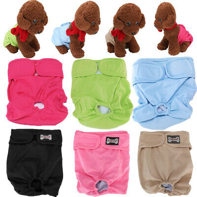 3PCS Super Absorbent Female Dog Diapers Washable Reusable Belly Band Underwear