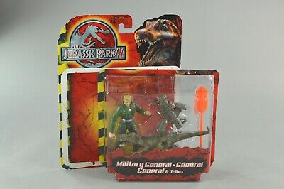 Jurassic Park III Military General & Tyrannosaurus Rex T-Rex COMPLETE with Box