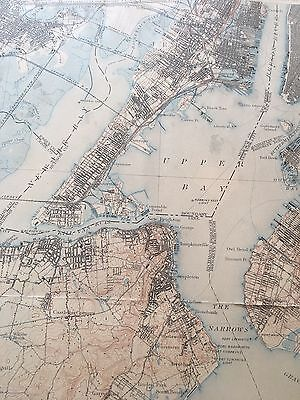 U.S. Geological Survey Topographic Map 1902 of N.Y., Statin Island, New Jersey