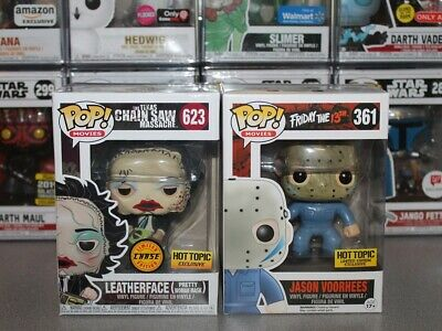 Funko Pop! LEATHERFACE Chase & JASON VORHEES Hot Topic Exclusives-NM Horror Pops