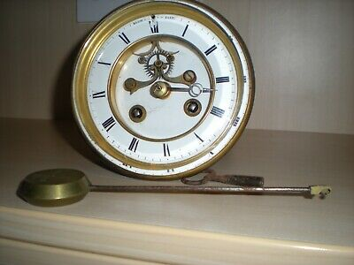 French 8-Day Strike Clock Movement - For Spares Or Repair