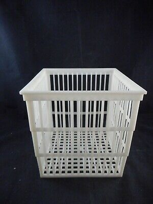 LAB Plastic 233 x 230 x 239mm Autoclaving Basket PP Sterilization White NO LID
