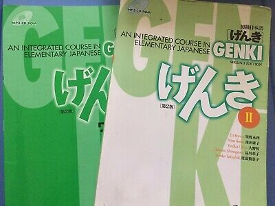 GENKI 2 Integrated Course in Elementary Japanese Textbook Workbook Set With CDs
