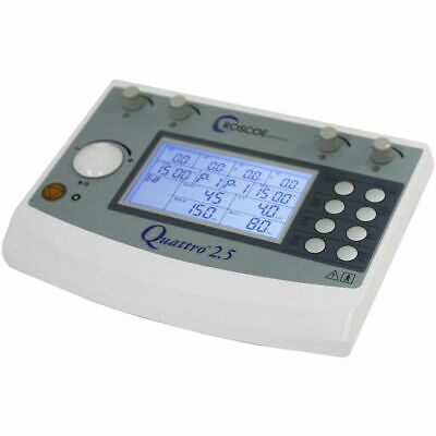 Roscoe Medical DQ8450 Quattro 2.5 Electrotherapy Device 4 Channel IF EMS & TENS