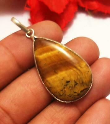 Tigers Eye Gemstone Pendant 925 Sterling Silver Plated Jewelry U225-A125