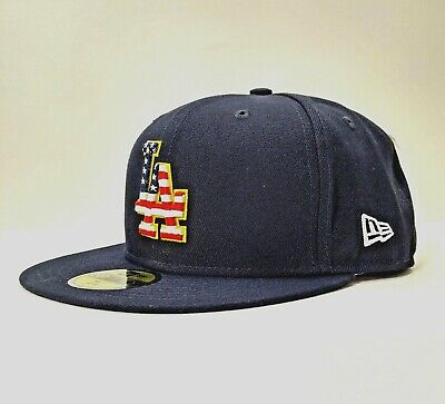 on sale b15d4 84b80 Los Angeles Dodgers New Era Navy 2018 Stars   Stripes 4th of July 59FIFTY  Hat