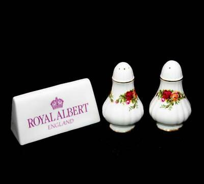 Vintage Royal Albert Old Country Roses pretty salt and pepper set