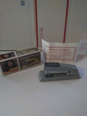 Vintage Swingline Stapler With Box And Guarantee Certificate 711 with staples