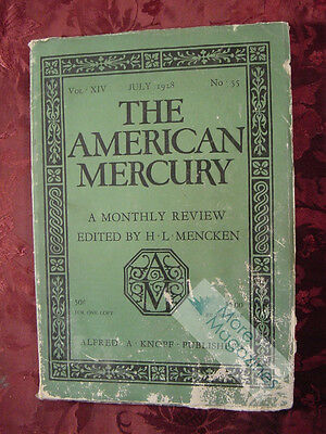 AMERICAN MERCURY July 1928 JAMES M CAIN ISABEL PATERSON