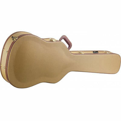 Stagg Vintage Series Gold Tweed Deluxe Case for Dreadnought Guitar