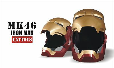 CATTOYS 1:1 Iron Man MK46 LED Helmet Replica WITH Jarvis Voice [Remote Version]
