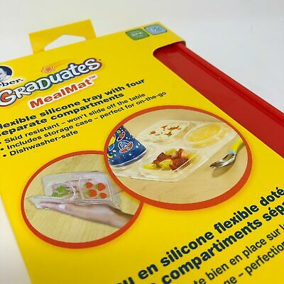 NEW Gerber Graduates MealMat Flexible Silicone Tray + FREE Bib & moments cards