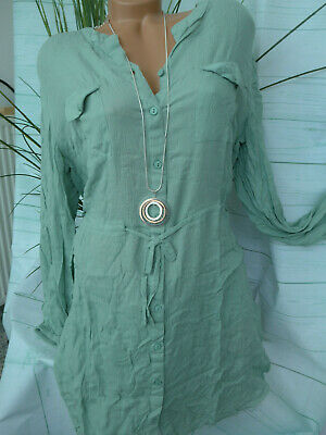 48 bis 52 blau Ton 382 Sheego long Bluse Tunika Kleid Kaftan Damen Gr
