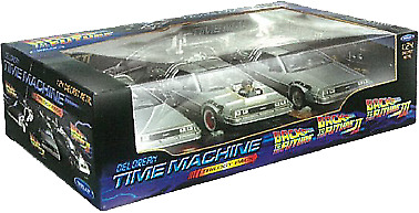 Back to the Future - 1:24 Trilogy Gift DeLorean Replica Set-WEL22400-3G