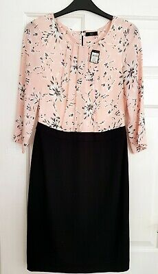 Pretty in pink M & Co dress size 8 ideal for work or dinner - new with tags