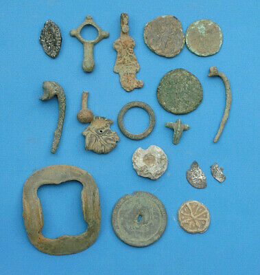 Metal Detecting Finds Silver Hammered Coins Medieval Seal Buckle Roman Brooches