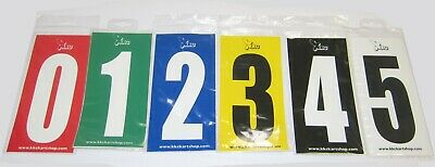 Adhesive Sticker Number Wheelie Bin Kart House Number 0-9 All Colours Pack of 4