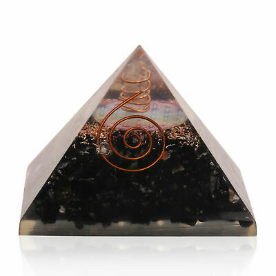 Extra Large Tourmaline Stone Orgonite (70-75mm) Orgone Gemstone Pyramid X-large