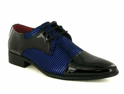 men two tone shoes lace up smart formal dress party wedding evening patent 6-11