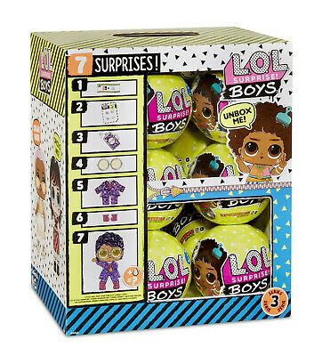 LOL SURPRISE DOLLS ~~~ BOYS ~~~~~ FULL CASE of 12 / box BOY ON HAND FAST POST