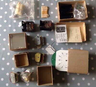 Vintage Swiss Clock Movements Electric Clockmakers Parts Collection Untested