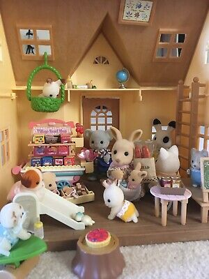 Sylvanian Families VILLAGE SWEET SHOP Lolly Candy RETIRED Stand Wagon Friend WOW