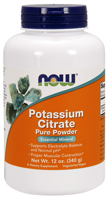 NOW FOODS Potassium Citrate Pure Powder - 340g Vegan, SHIPPING WORLDWIDE