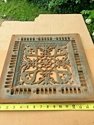 Unique ++ Cast Iron Fireplace Architectural 16 x 16  approx Solid Piece 3D-LQQK!
