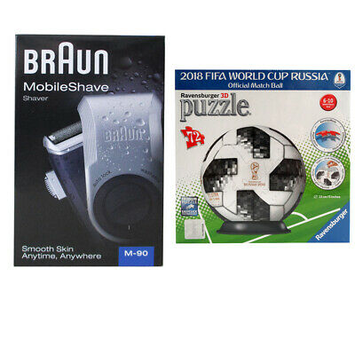 Braun M-90 Mobile Shave Rasierer mit ADIDAS BALL 3D-Puzzle FIFA WORLD CUP RUSSIA