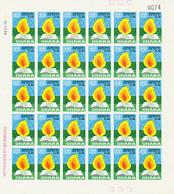 Ghana 1972 Int Book Year Sg630/634 Complete Imperf Sheets And Normal Sheets Mnh