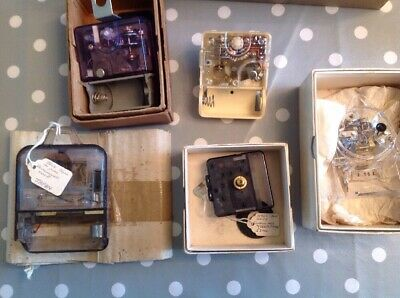 Vintage Japanese Electric Clock Movements Including NOS Ex Specialist Collection