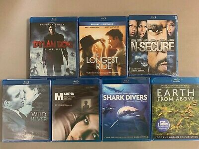 Blu-ray lot New Free Ship Dylan Dog Longest Ride NSecure Wild River Shark Divers