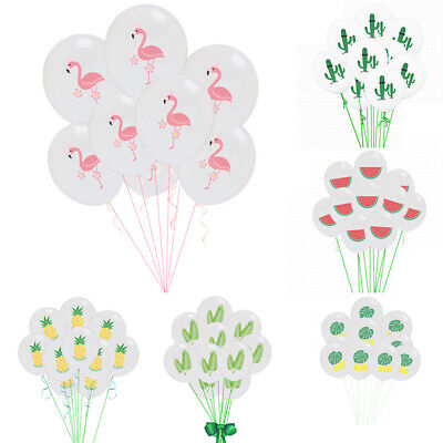 10 PCS Hawaii Party Latex Balloons Flamingo Birthday Baby Shower Decor Supplies