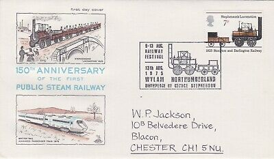STAMPS STEAM RAILWAY SOUVENIR / FIRST DAY COVER FROM RARE COLLECTION No 017