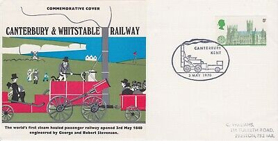 STAMPS STEAM RAILWAY SOUVENIR / FIRST DAY COVER FROM RARE COLLECTION No 063
