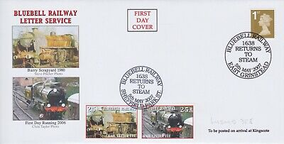 STAMPS STEAM RAILWAY SOUVENIR / FIRST DAY COVER FROM RARE COLLECTION No 081