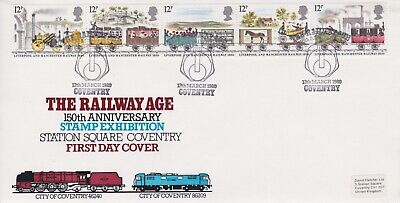 STAMPS STEAM RAILWAY SOUVENIR / FIRST DAY COVER FROM RARE COLLECTION No 107