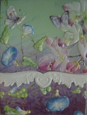 Carol Wilson Purse Pads Embossed Note Pad Daisy Butterfly Magnetic 90 Sheets