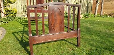 Antique - Staples Single Bedstead complete with open spiral sprung mattress
