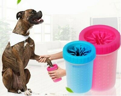 Portable Dog Cat Paw Cleaner Pet Cleaning Brush Cup Dog Foot Cleaner Feet Washer