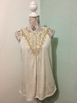 443c666d4b43fc KNOX ROSE WOMENS Ivory & Gold Embroidered Peasant style Shirt Blouse ...